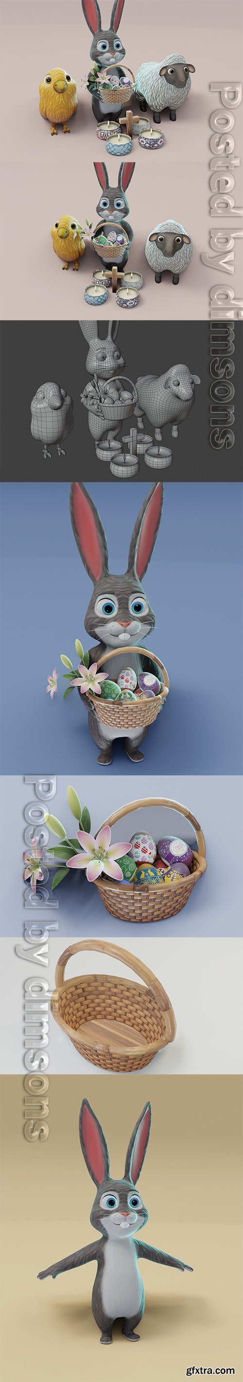 Cgtrader - Easter 3D Model Low-poly 3D model