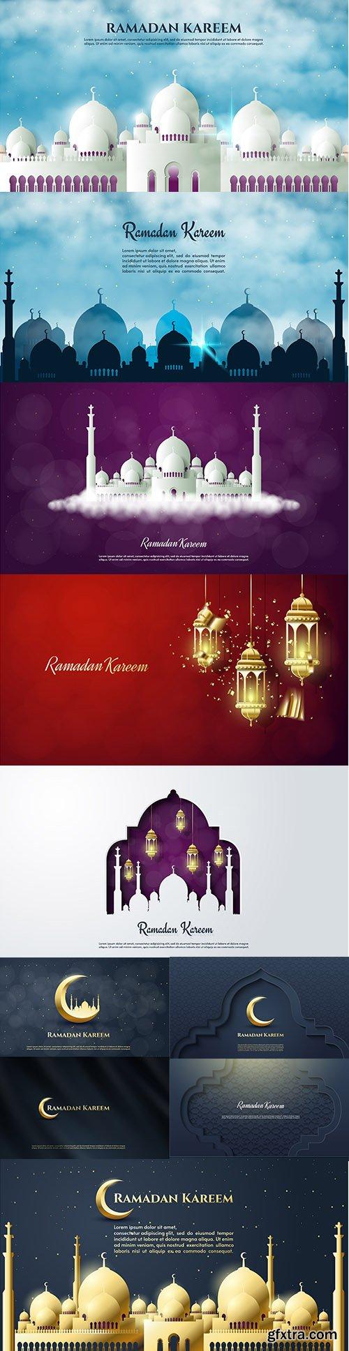 Ramadan Kareem Premium Illustrations Vector Set