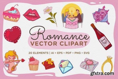 Romance Vector Clipart Pack