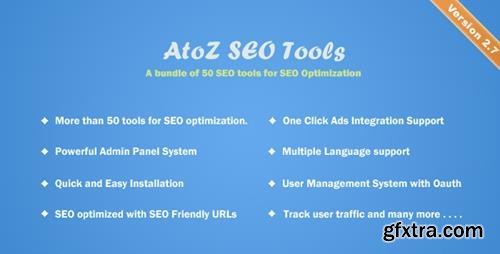 CodeCanyon - AtoZ SEO Tools v2.7 - Search Engine Optimization Tools - 12170678 - NULLED