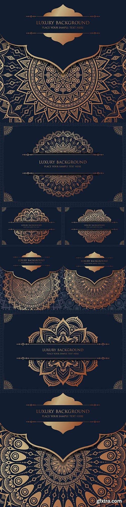 Luxury mandala gold design oriental pattern 3