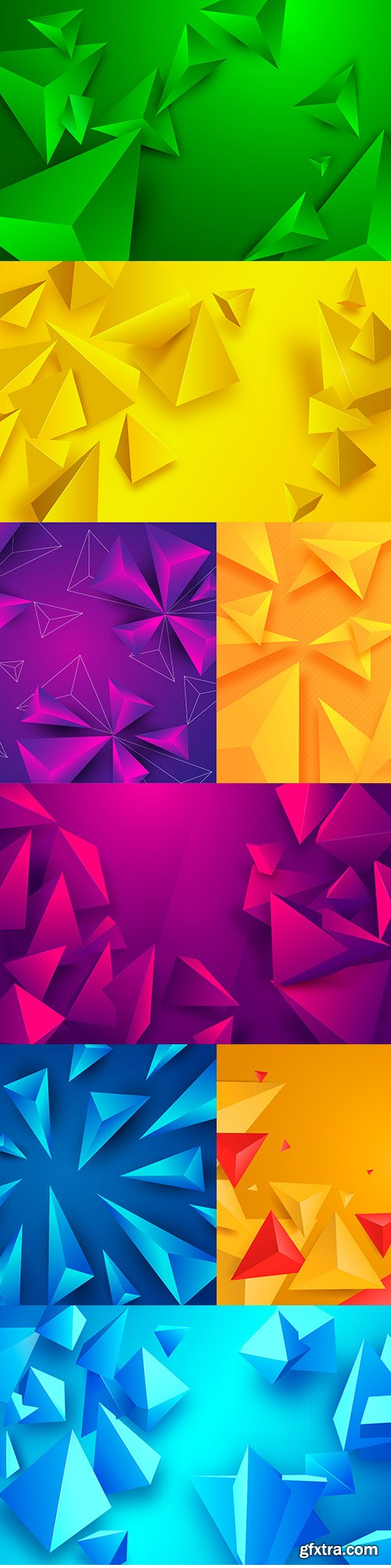 Bright background with triangular figures