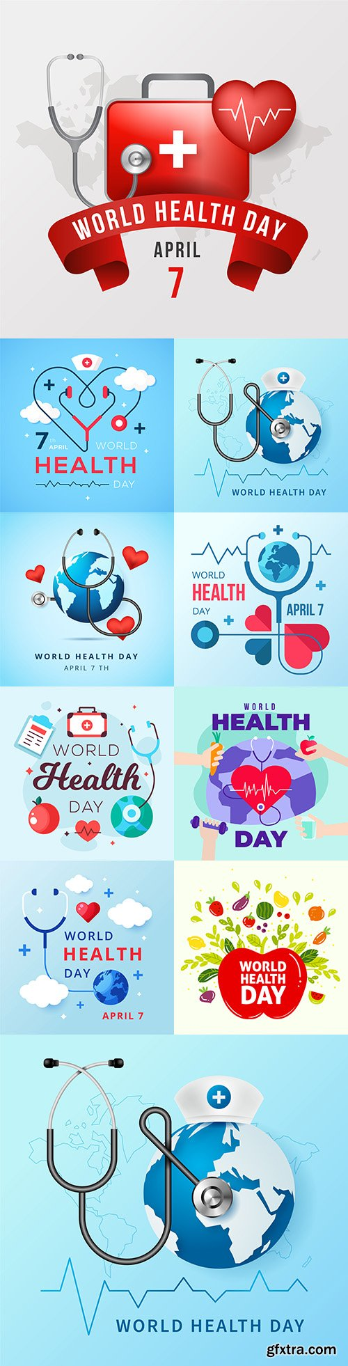 World Health Day flat design illustration 2