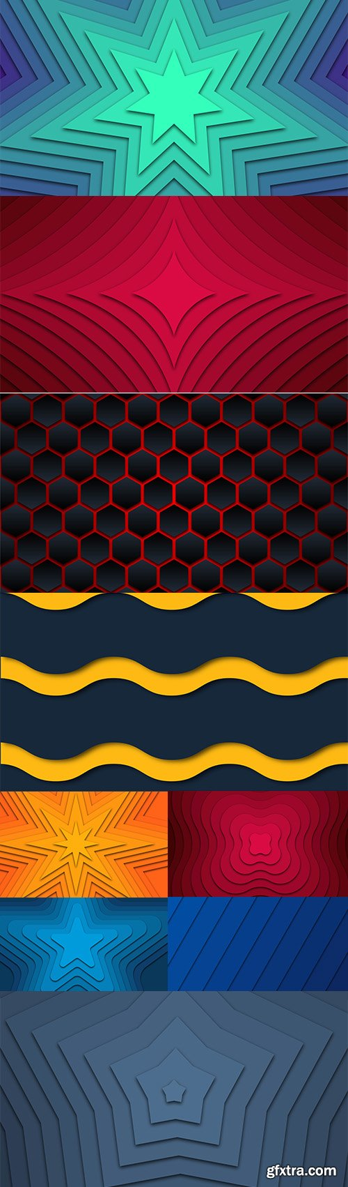 Geometric Wave Abstract Premium Illustrations Vector Set