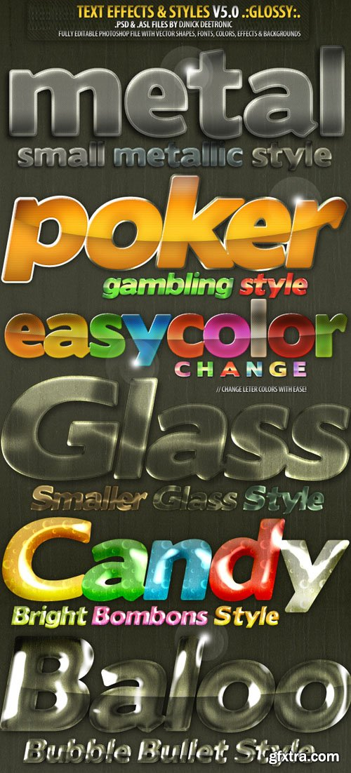 Text Effects & Styles V.5 for Photoshop