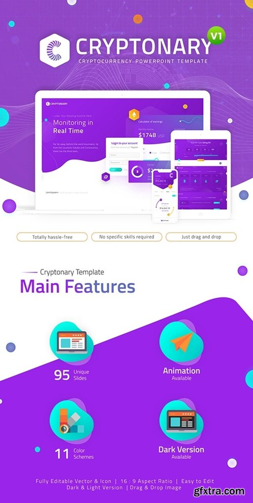 GraphicRiver - Cryptonary Cryptocurrency PowerPoint Template 23673732