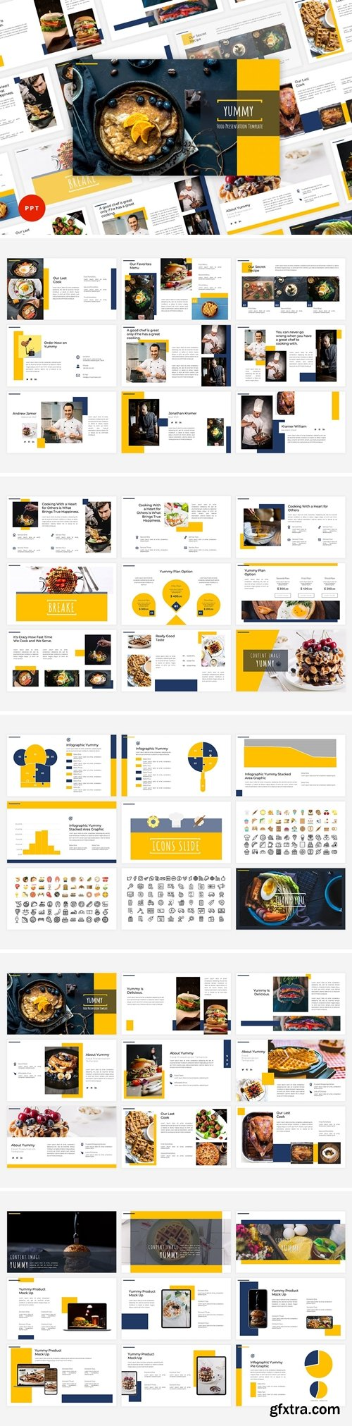Yummy - Food Powerpoint, Keynote and Google Slides Templates