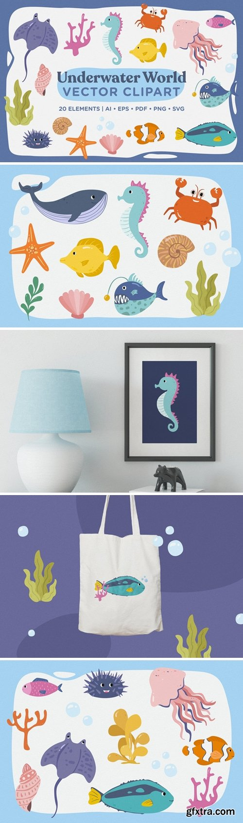 Underwater World Vector Clipart Pack