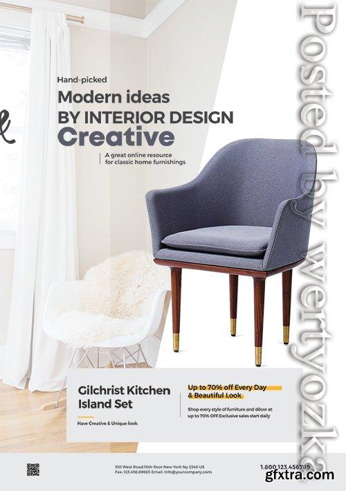 Minimalist Furniture - Premium flyer psd template