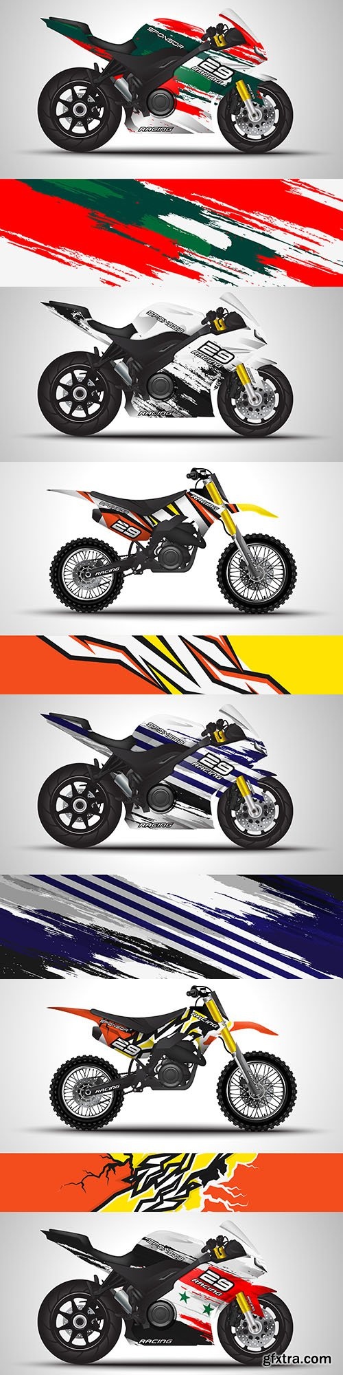 Motorcycle sticker and vinyl sticker design illustration