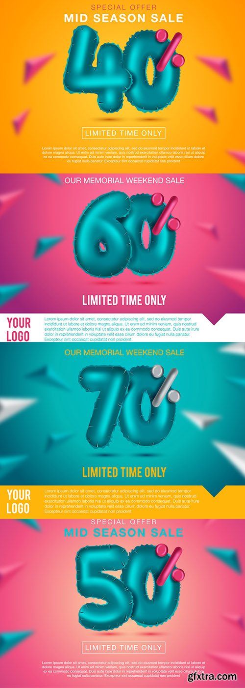 Best Sale Banner Premium Illustrations Vector Set