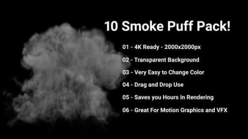 Videohive - 10 Puff Smoke Pack