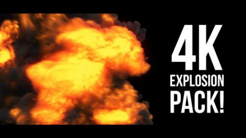 Videohive - 4K Explosions Pack