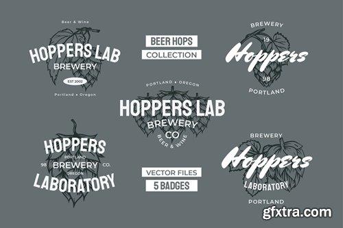 Beer Hops Multiply Badges