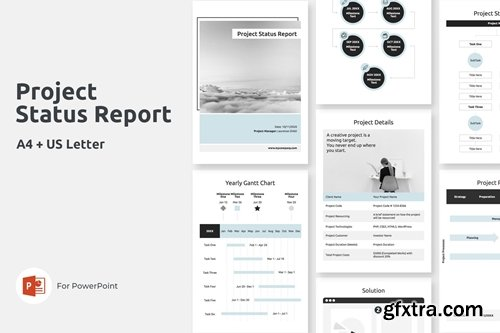 A4 Project Status Report Vertical PowerPoint and Keynote
