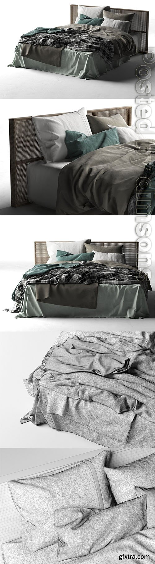 Cgtrader - Queen Bed 2 3D model