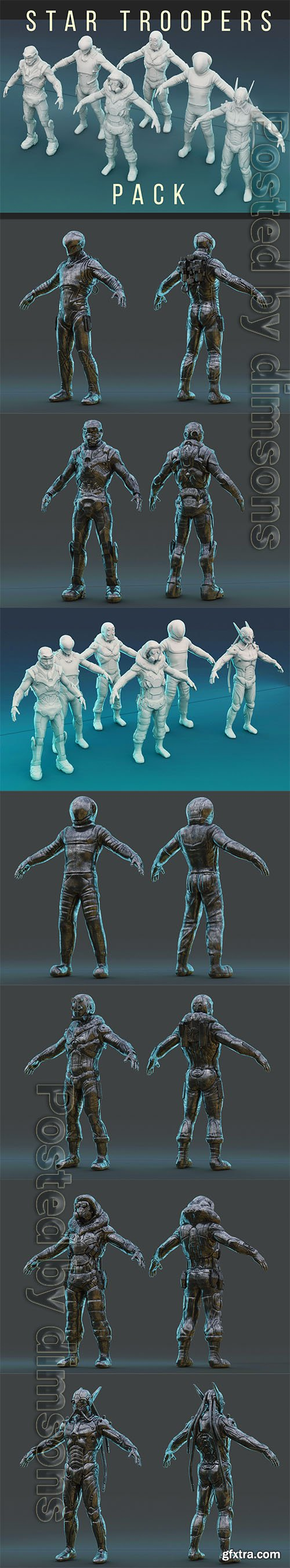 Cgtrader - Star Trooper Pack 3D model