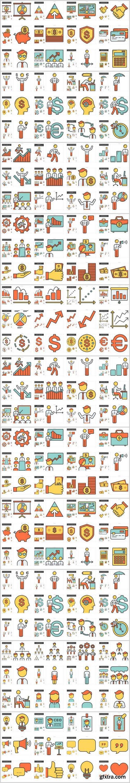 Human resources line icon set 2 - 11xEPS
