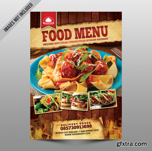 Food menu Premium Psd