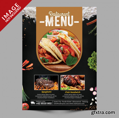 Food menu flyer Premium Psd