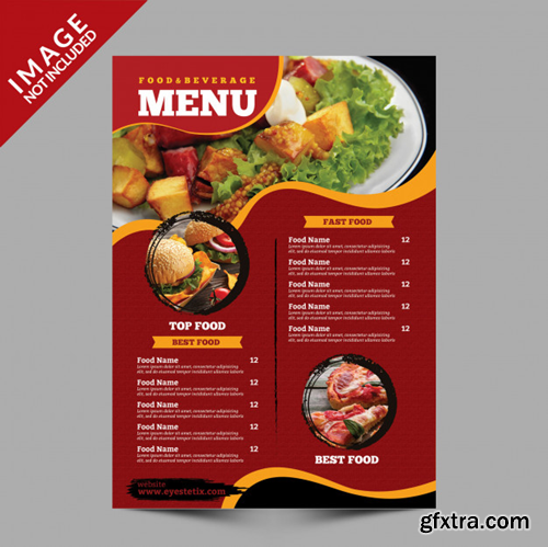Food menu flyer template Premium Psd