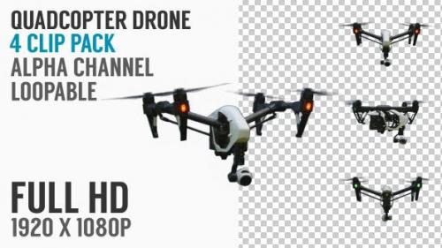 Videohive - Quadcopter Drone Flying Pack