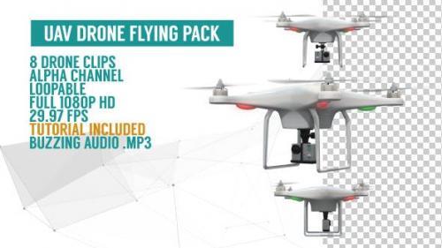 Videohive - UAV Drone Flying Pack