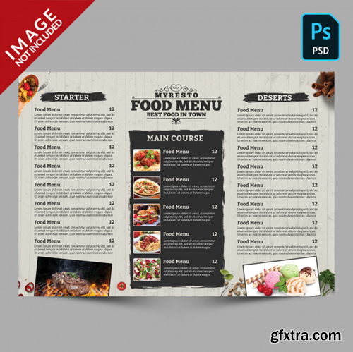 Food menu template Premium Psd