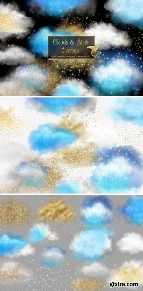 Clouds and Stars Overlays 2953467