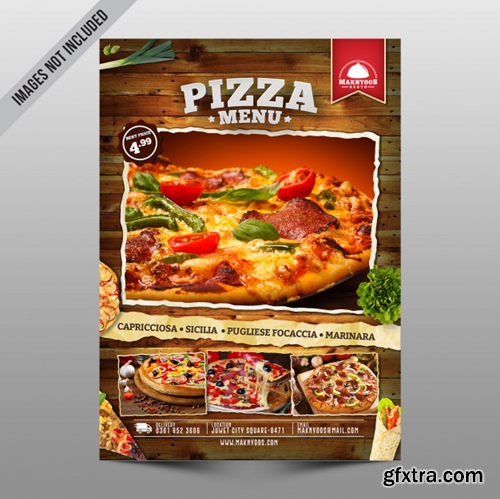 Pizza menu flyer Premium Psd