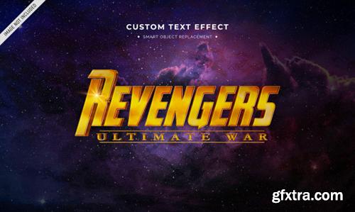 Superhero movie 3d text style effect Premium Psd