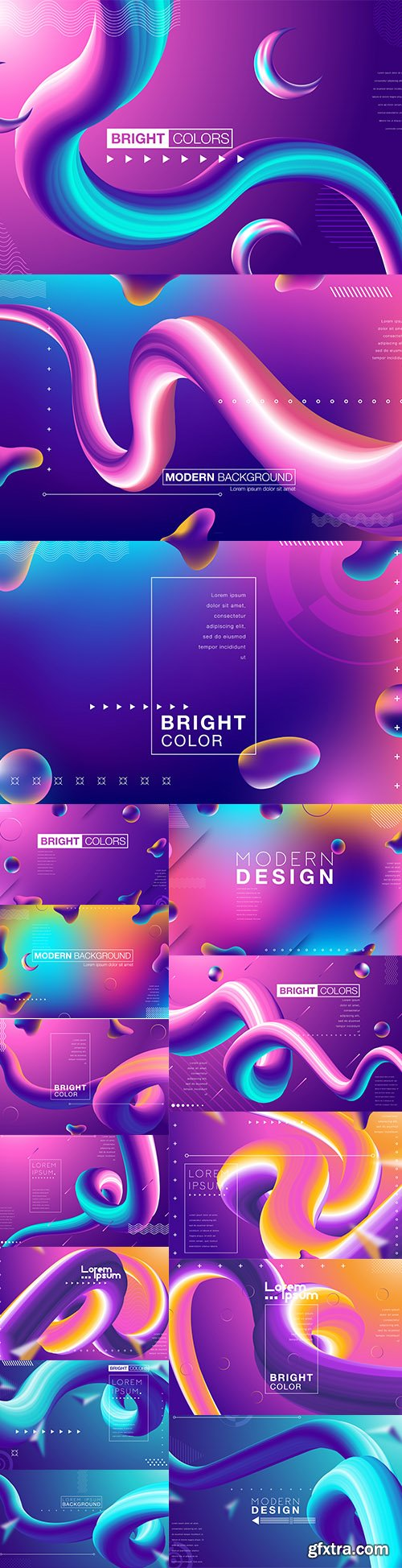 Abstract Gradient Design Illustrations