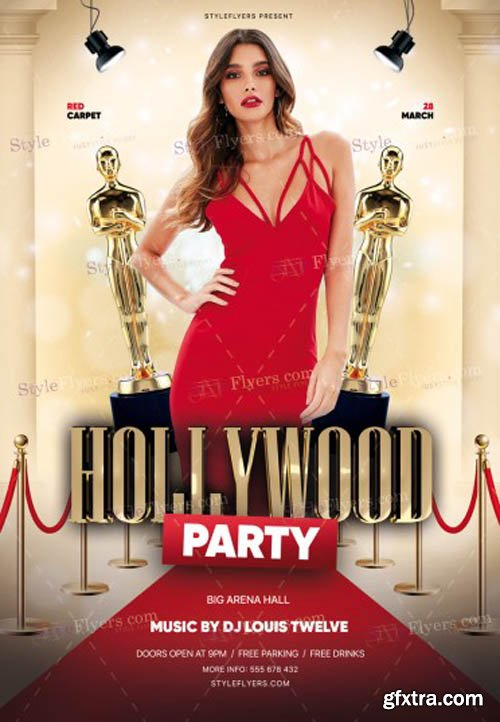 Hollywood Party V1502 2020 PSD Flyer Template