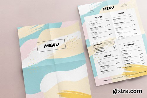 Colored Menu Template