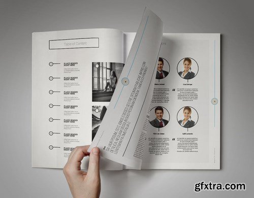 Cropped Magazine Template