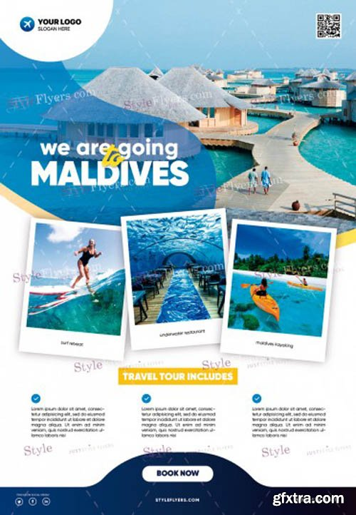 Travel Tour V1502 2020 PSD Flyer Template