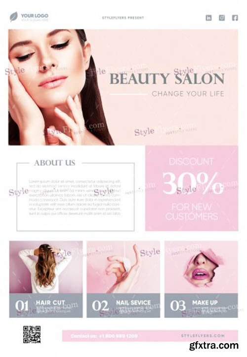 Beauty Salon V1502 2020 PSD Flyer Template