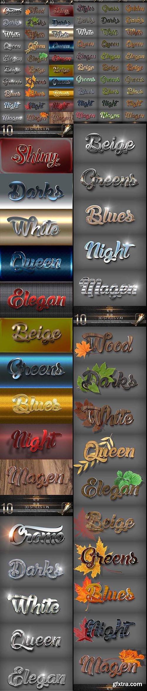 GraphicRiver - Bundle 60 3D Text Styles C 25635584