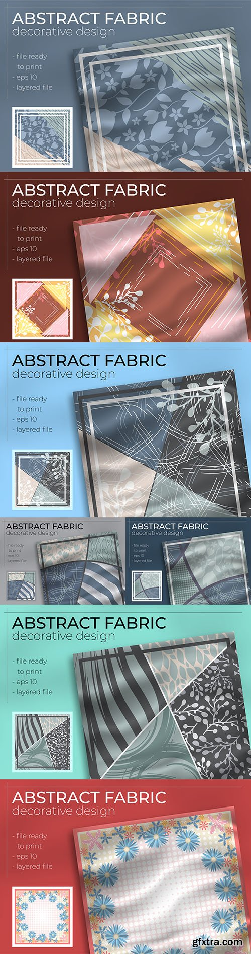 Decorative abstract realistic fabric design