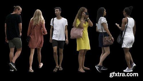 People Cutouts 3d Models