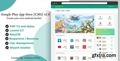 CodeCanyon - Google Play App Store [CMS] v2.0.8 - 20614679