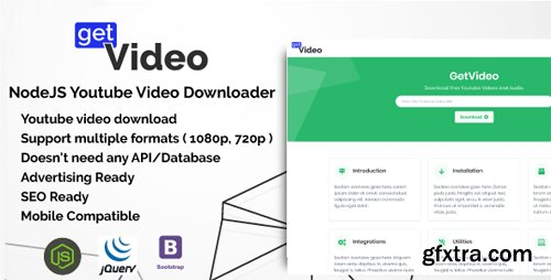 CodeCanyon - GetVideo v1.0.0 - NodeJS Youtube Video Downloader - 21774189