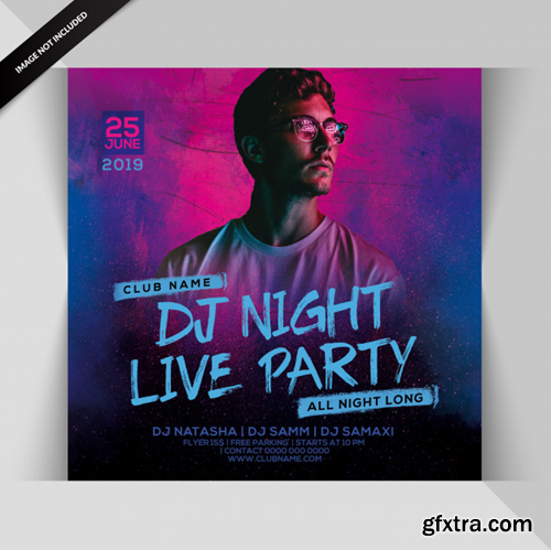 Dj party flyer Premium Psd