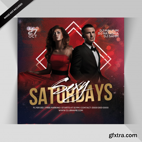 Sexy saturday party flyer Premium Psd