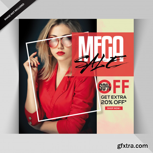 Creative fashion exclusive sale banner or post Premium Psd