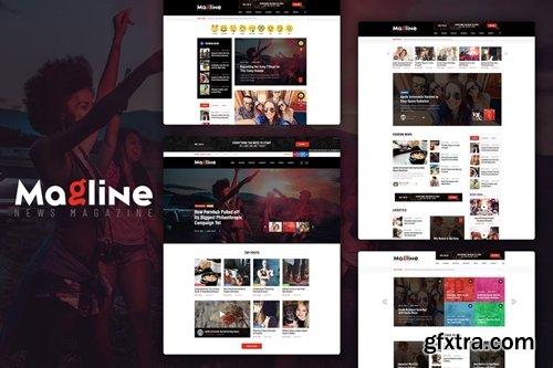 Magline - Blog & News Magazine PSD Template