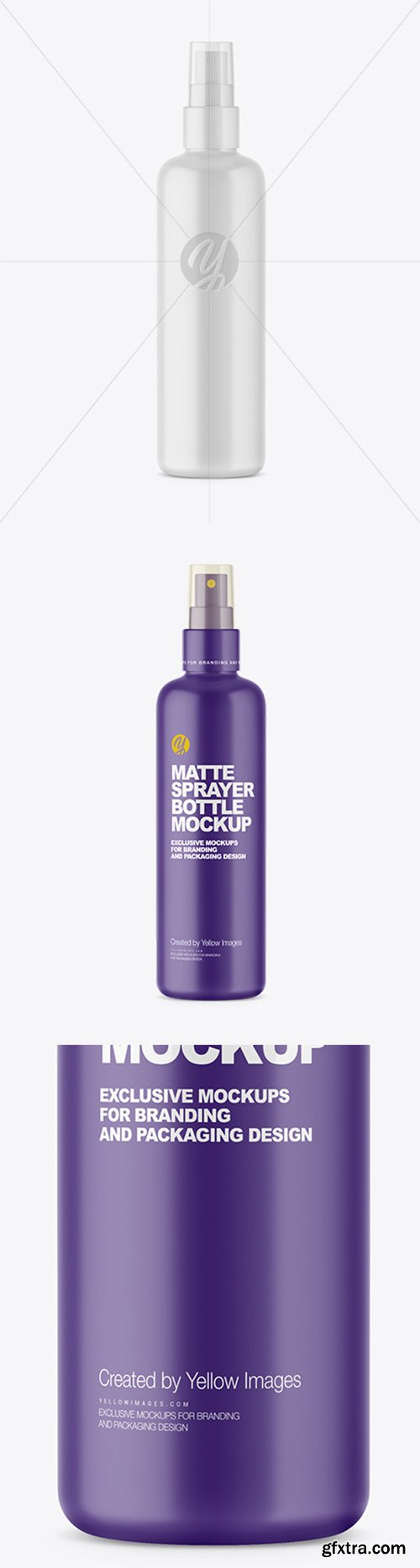Matte Cosmetic Sprayer Bottle Mockup 55354