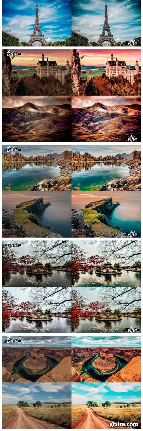 25 Landscape Photoshop Actions, ACR LUts 2960957