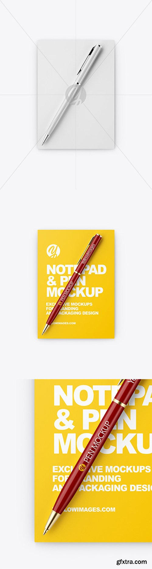 A6 Notepad & Pen Mockup 55363