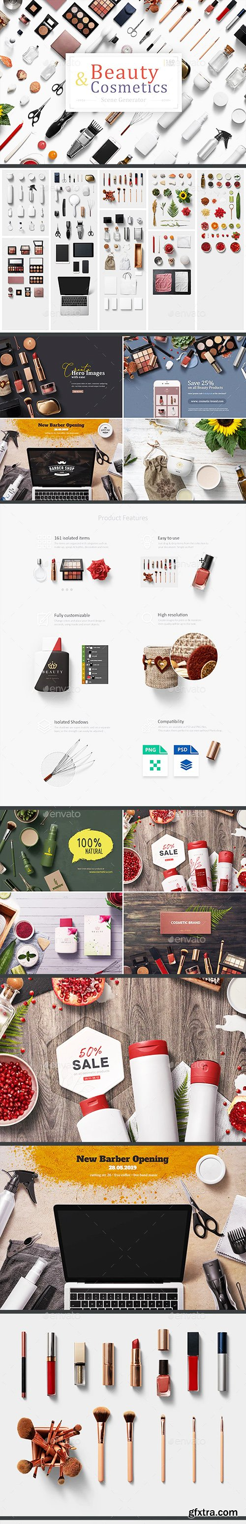 Graphicriver Beauty & Cosmetics Scene Generator 23182741